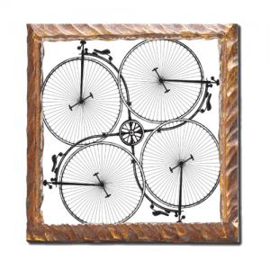 Stampa su legno con grafica bici
